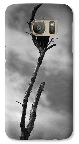 Galaxy Case featuring the photograph Vulture Silhouette by Bradley R Youngberg