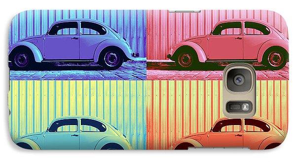 Vw Beetle Pop Art Quad Galaxy S7 Case by Laura Fasulo