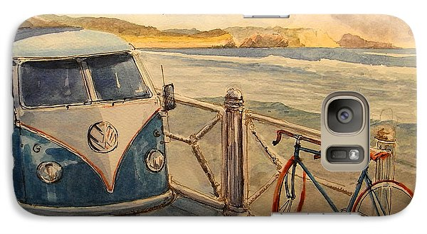 Bicycle Galaxy S7 Case - Vw Westfalia Surfer by Juan  Bosco