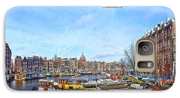 Galaxy Case featuring the photograph Waalseilandgracht Amsterdam by Frans Blok