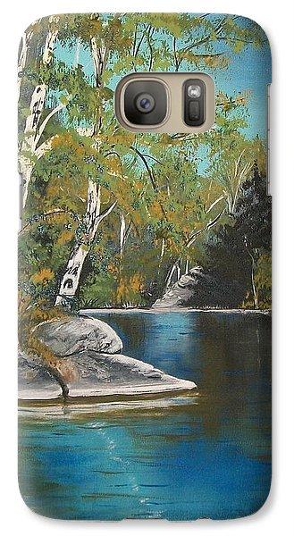 Galaxy Case featuring the painting Wabigoon Lake by Sharon Duguay