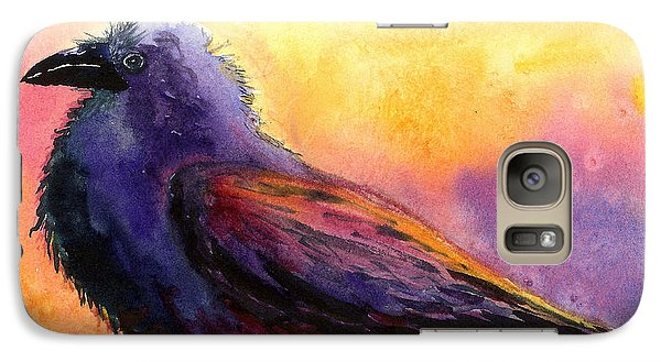 Galaxy Case featuring the painting Waddles by Karen Mattson