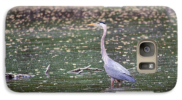 Galaxy Case featuring the photograph Wading Crane by Susan  McMenamin