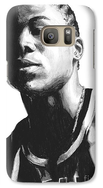 Galaxy Case featuring the drawing Wagner by Tamir Barkan