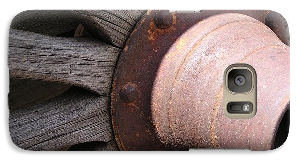 Galaxy Case featuring the photograph Wagon Wheel by Diane Alexander