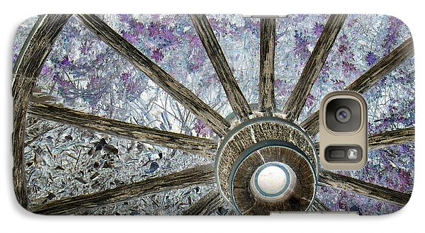 Galaxy Case featuring the photograph Wagon Wheel Study 1 by Sylvia Thornton