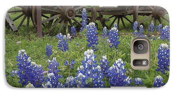 Galaxy Case featuring the photograph Wagon With Bluebonnets by Susan Rovira