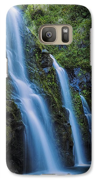 Galaxy Case featuring the photograph Waikani Falls by Hawaii  Fine Art Photography