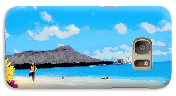 Galaxy Case featuring the photograph Waikiki Beach by Mindy Bench