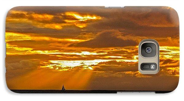 Galaxy Case featuring the photograph Waikiki Sun Set by John Johnson
