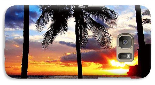 Galaxy Case featuring the photograph Waikiki Sunset by Kara  Stewart