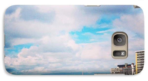 Galaxy Case featuring the photograph Waikiki Walls View by Erika Swartzkopf