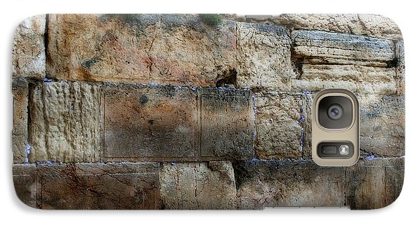 Galaxy Case featuring the photograph Wailing Wall In Israel by Doc Braham