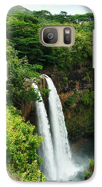 Wailua Falls Kauai Galaxy S7 Case by Photography  By Sai