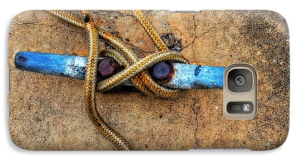 Boat Galaxy S7 Case - Waiting - Boat Tie Cleat By Sharon Cummings by Sharon Cummings