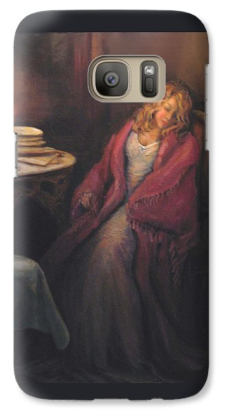 Galaxy Case featuring the painting Waiting by Donna Tucker
