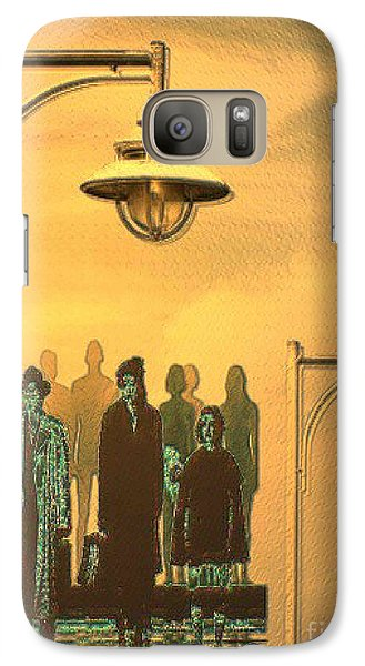 Galaxy Case featuring the digital art Waiting Folks In The Evening by Mojo Mendiola