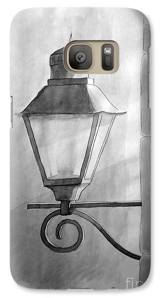 Galaxy Case featuring the painting Waiting For Night by Eleonora Perlic