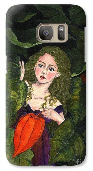 Galaxy Case featuring the painting Waiting For Secret Lover by Jingfen Hwu
