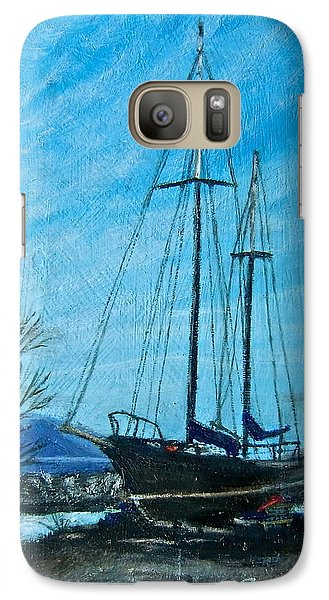 Galaxy Case featuring the painting Waiting For Springtime. by Bonnie Heather