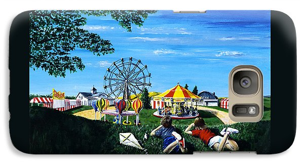 Galaxy Case featuring the painting Waiting For The Fair by Ron Haist