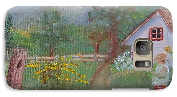 Galaxy Case featuring the painting Waiting For The Light by Sharon Schultz