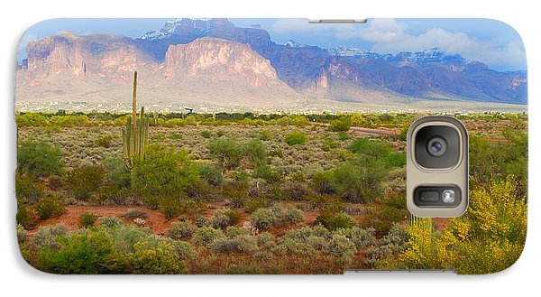 Galaxy Case featuring the photograph 16x20 Canvas - Superstition Mountain Light by Tam Ryan
