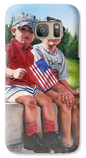 Galaxy Case featuring the painting Waiting For The Parade by Lori Brackett