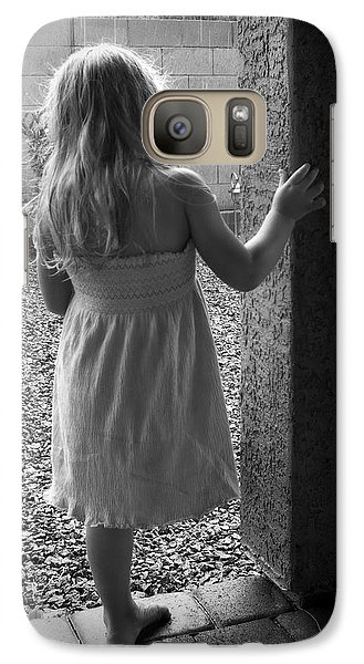 Galaxy Case featuring the photograph Waiting For The Rain To End  by Lucinda Walter