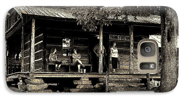 Galaxy Case featuring the photograph Waiting For The Train by B Wayne Mullins
