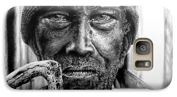 Galaxy Case featuring the drawing Man With Cane by Geni Gorani