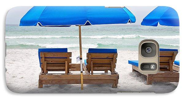 Galaxy Case featuring the photograph Panama City Beach Florida Empty Chairs by Vizual Studio