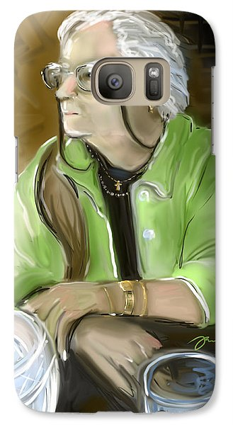 Galaxy Case featuring the painting Waiting by Jean Pacheco Ravinski