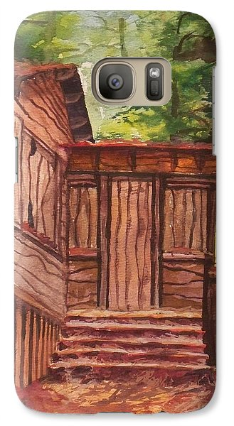 Galaxy Case featuring the painting Waiting by Joy Nichols