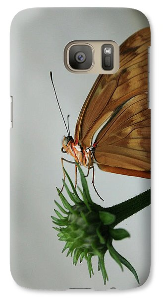 Galaxy Case featuring the photograph  Butterfly Waiting On The Wind  by Cathy Harper