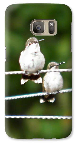 Galaxy Case featuring the photograph Waiting Our Turn by Nick Kirby