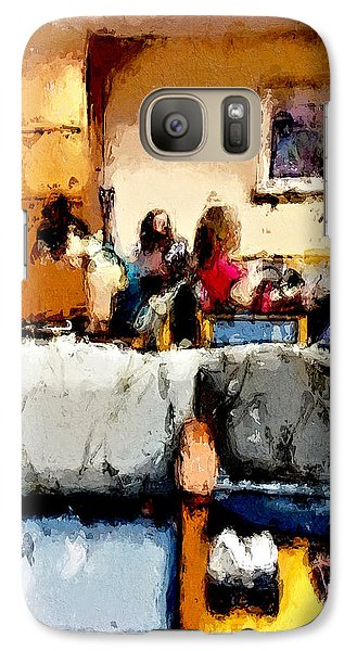 Galaxy Case featuring the painting Waiting by Robert Smith