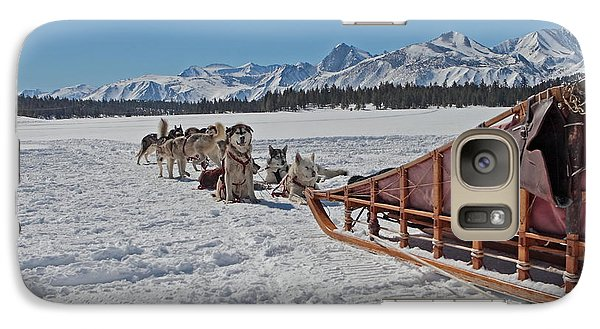 Galaxy Case featuring the photograph Waiting Sled Dogs  by Duncan Selby