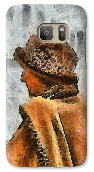 Galaxy Case featuring the digital art Waiting To Board by Carrie OBrien Sibley