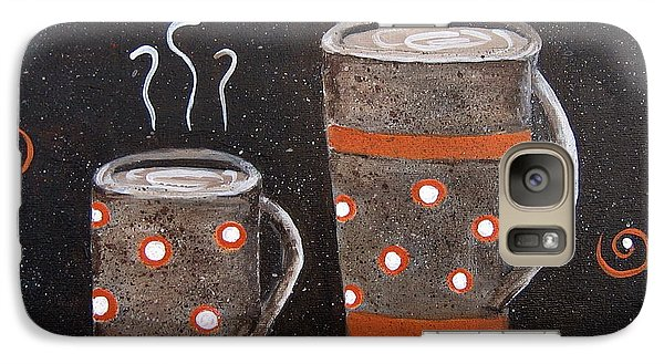 Galaxy Case featuring the painting Wake Up And Smell The Coffee by Suzanne Theis