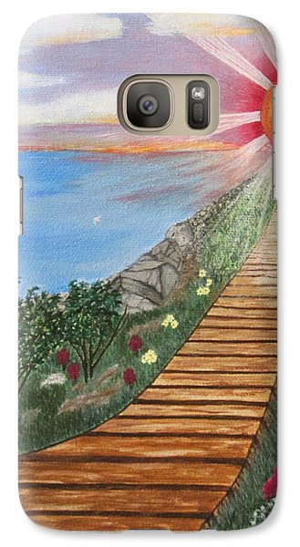 Galaxy Case featuring the painting Waking Up Love by Cheryl Bailey