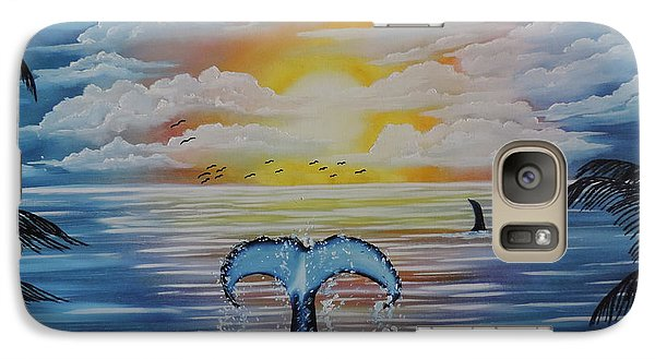 Galaxy Case featuring the painting Wale Tales by Dianna Lewis