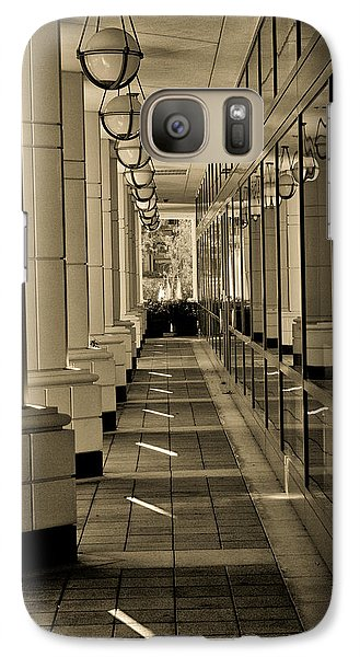 Galaxy Case featuring the photograph Walk By The Offices by Joseph Hollingsworth
