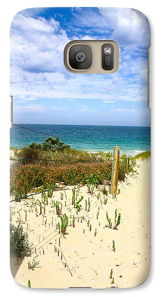Galaxy Case featuring the photograph Walk To The Beach by Serene Maisey