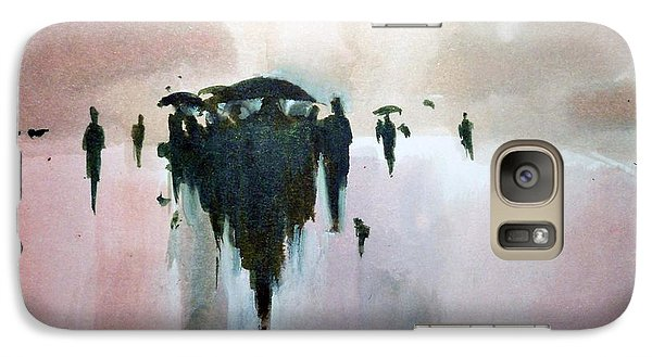 Galaxy Case featuring the painting Walk To The Sun by Ed  Heaton