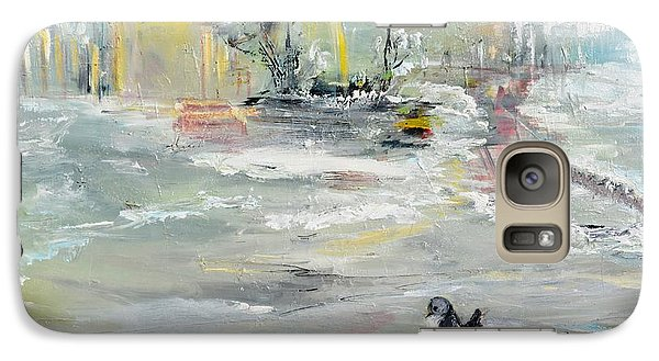 Galaxy Case featuring the painting Walking  by Evelina Popilian
