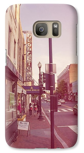 Galaxy Case featuring the photograph Walking In Georgetown by Nicola Nobile