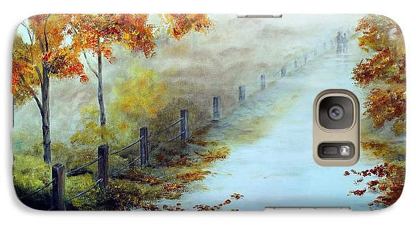 Galaxy Case featuring the painting Walking In The Mist by Anna-maria Dickinson