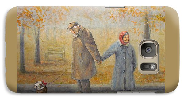 Galaxy Case featuring the painting Walking Miss Daisy by Donna Tucker