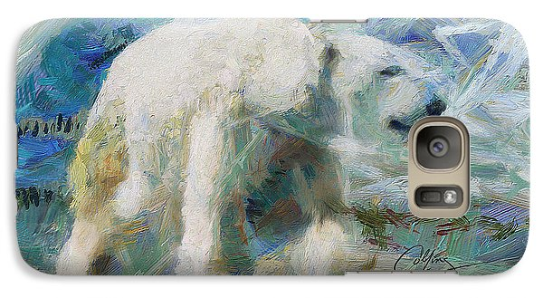 Galaxy Case featuring the painting Cold As Ice by Greg Collins